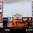 Scoreboard - Bonds at bat