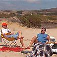 Jim and Al on the beach in Pescadero