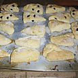 Vicky's famous homemade scones