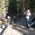 Parker and Frank on Castle Rock hike